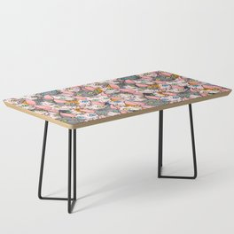 diverse sphynx cat allover print Coffee Table