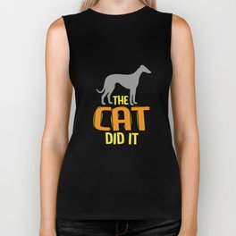 Funny The Cad Did It Gift Pet Lover Biker Tank