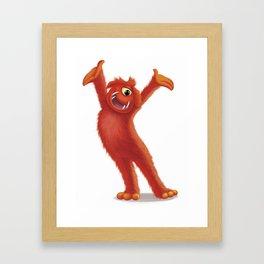 Barry the Monster Framed Art Print