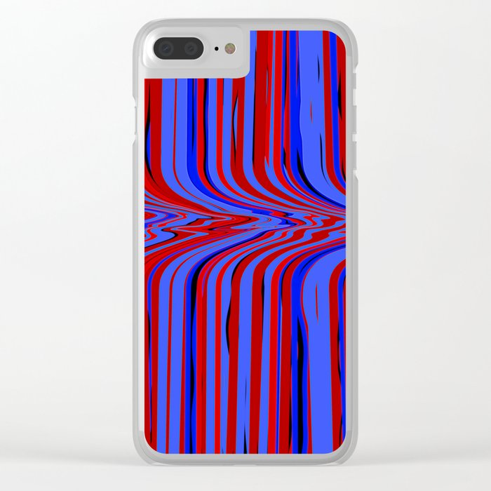 red and blue flowing Clear iPhone Case