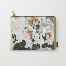 Hydrangea And Butterflies in Frame #decor #society6 Carry-All Pouch