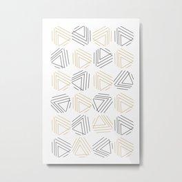 Abstract Gold Black Pattern Metal Print