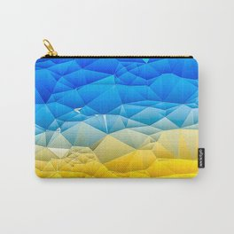 Sunshine and Blue Sky Quilted Abstract Carry-All Pouch