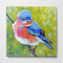 Itty Bitty Bluebird Metal Print
