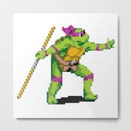 Pixelated Teenage Mutant Ninja Turtles (TMNT) - Donatello Metal Print