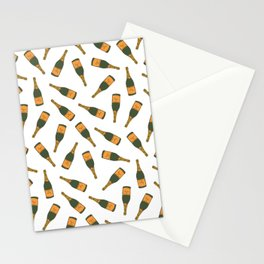 Champagne Bottle Pattern Stationery Cards