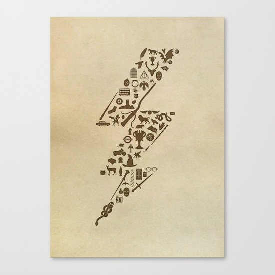 Lightning never strikes twice  Canvas Print
