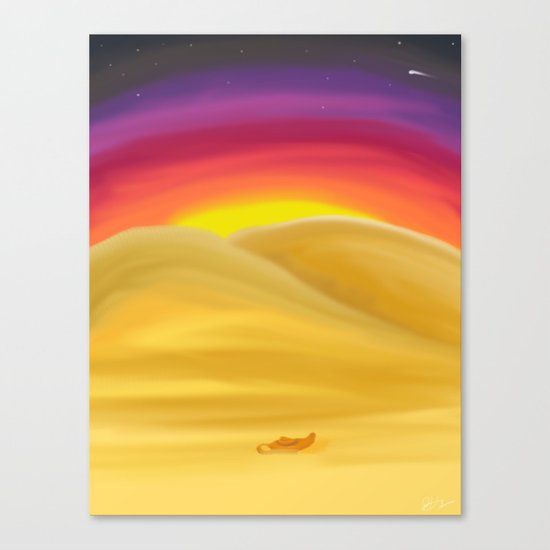 Desert Night Canvas Print
