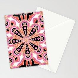 Autumn Spice Mandala- Boho Flower Bust Stationery Cards