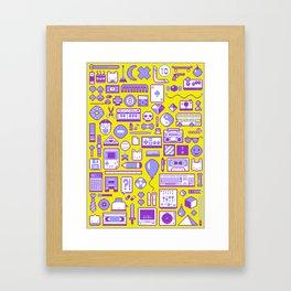"""Childhood Memories"" pixel art poster Framed Art Print"
