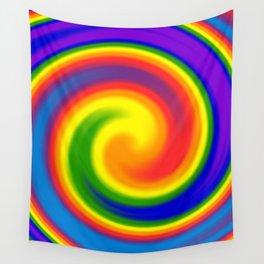 Rainbow Lollipop Swirl Wall Tapestry