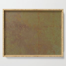 Abstract copper rusty crumpled paper Serving Tray