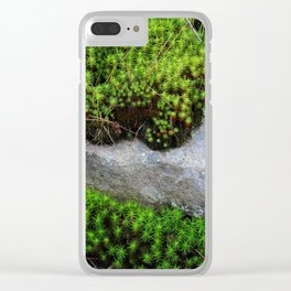 Vibrant Moss Clear iPhone Case