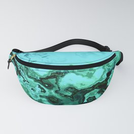 TURQUOISE GEODE ABSTRACT Fanny Pack