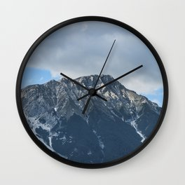 Clouds over the Mountain // Landscape Photography Wall Clock