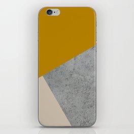 MUSTARD NUDE GRAY GEOMETRIC COLOR BLOCK iPhone Skin
