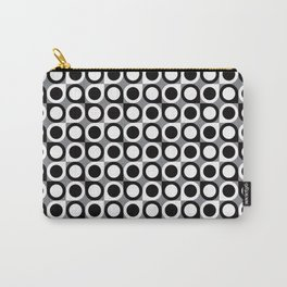 Geometric Pattern #193 (black gray circles) Carry-All Pouch