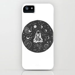 Astronaut Meditating iPhone Case