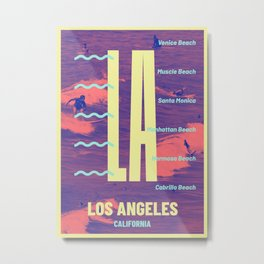 Los Angeles Beach Metal Print