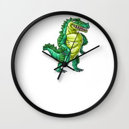 Crocodile Aunt Alligator Reptile Animal Wall Clock