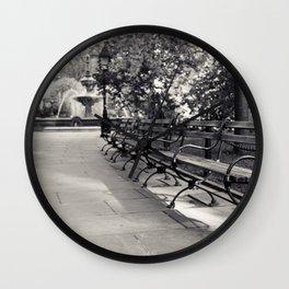 On a Park Bench At City Hall Wall Clock