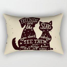 My Pets My Best Friends. Rectangular Pillow