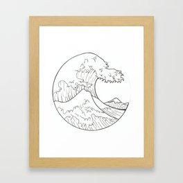 The wave of Kanagawa Framed Art Print