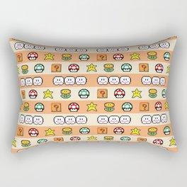 Pixel Game Retro (Orange) Rectangular Pillow