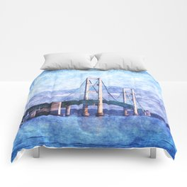 The Mackinac Bridge Comforters