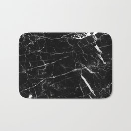 Black and White Marble Bath Mat