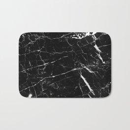 Black and White Marble Bath Mat