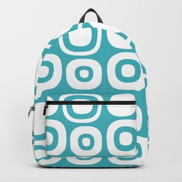 Mid Century Modern Garden Path Pattern 364 Turquoise Backpack