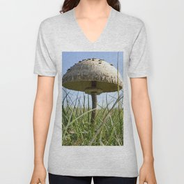 Parasol mushroom Unisex V-Neck