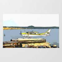 airplane Area & Throw Rugs featuring Airplane by Cindys