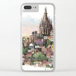 Sunset over San Miguel de Allende Clear iPhone Case