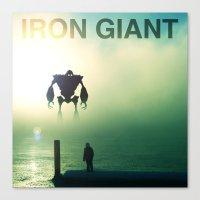iron giant Canvas Prints featuring Iron Giant - Colour by Jonah & Cameron Cawston