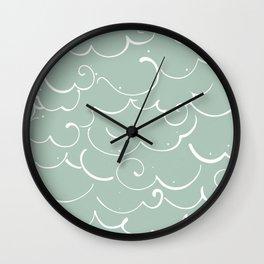 Mint Cloud Wall Clock