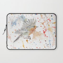 "Watercolor Painting of Picture ""Robins"" Laptop Sleeve"