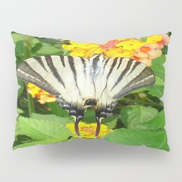 Scarce Swallowtail Feeding on Lantana Pillow Sham