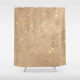 Gold Glitter Chic Glamorous Sparkles Shower Curtain