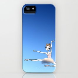 Sweet Ballerina up in the sky with a cloud tutu iPhone Case