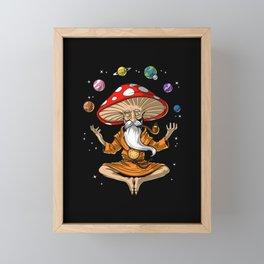Buddha Magic Mushroom Framed Mini Art Print