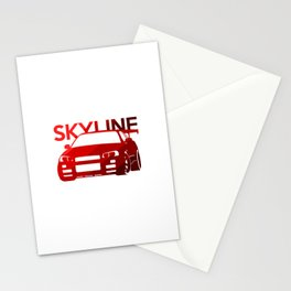 Nissan Skyline GT-R  - classic red - Stationery Cards