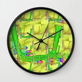 U - pattern 2 Wall Clock