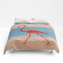 love flamingo Comforters