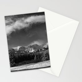 Rocky Mountan Park in Black and White Stationery Cards