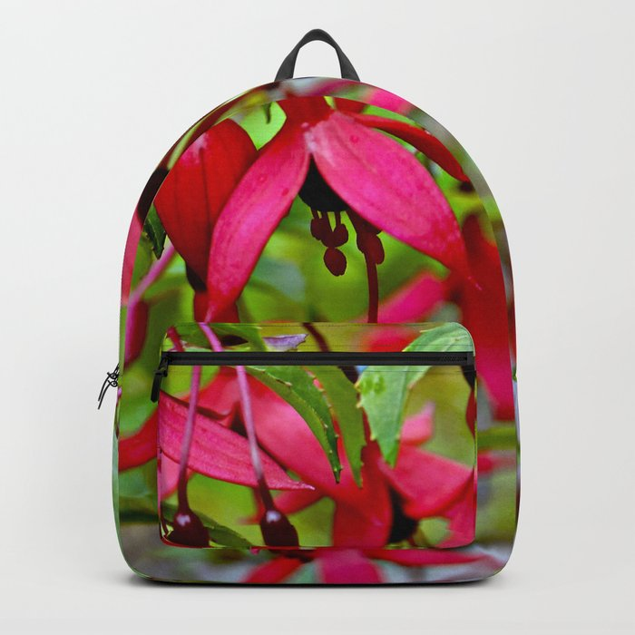Pink Fuchsia Blossoms Backpack