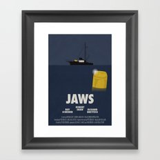 Jaws tribute poster Framed Art Print