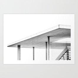 Architectural Study in White Art Print