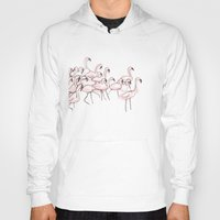 flamingos Hoodies featuring Flamingos by Madeleine Groves
